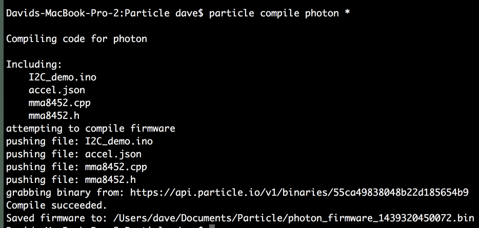 particle compile photon *