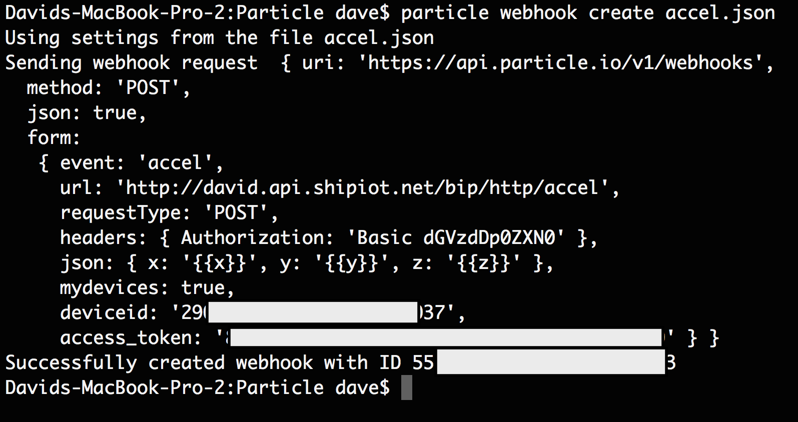 particle web create accel.json