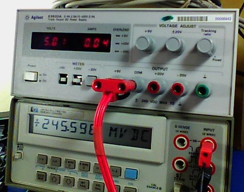 Multimeter reading 245.59mV