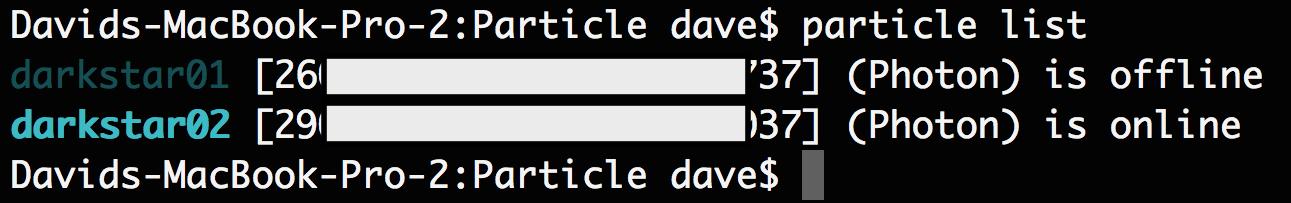 particle list